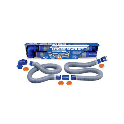 Sewer Hose - Blueline Ultimate Sewer Hose Kit With Quick Connects And Elbow - 20'L