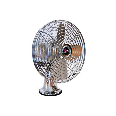 RV Fan - Prime Products Surface Mount Fan With 2 Speeds & Switch 12V Chrome