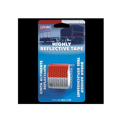 "Reflective Tape - Lifesafe Engineering Grade 1-1/2"" x 4' Roll Adhesive Tape - Red And Silver"