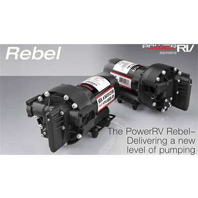 Water Pumps - Rebel - 12V - 5.3 GPM - Fittings Included - Optional Strainer