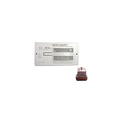 CO/LP Detector - Safe-T-Alert 70 Series Flush Mount Detector With Solenoid White