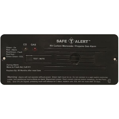 CO/LP Detector - Safe-T-Alert 35 Series Flush Mount Detector 12V Black