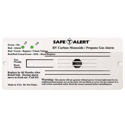 CO/LP Detector - Safe-T-Alert 35 Series 12V Flush Mount Carbon Monoxide/Propane - White