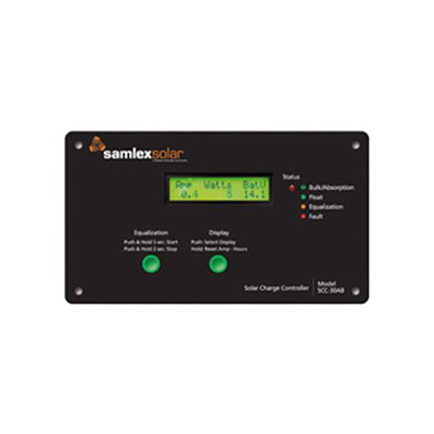 Battery Charge Controller - Samlex Solar 30A 4-Stage PWM Battery Charge Controller