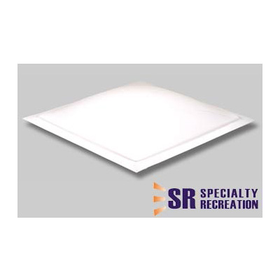 RV Skylight Lens - Specialty Recreation - Exterior - 14 x 14 x 3.5 Inches - White