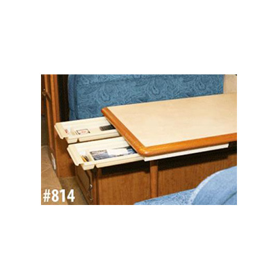 Table Drawer - Smart Solutions Add-A-Drawer Sliding Table Drawer White