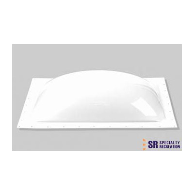 RV Skylight Lens - Specialty Recreation - Exterior - 14 x 30 x 5 Inches - White