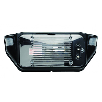 Porch Lights - AP Products Motion-Activated LED Porch Light With Black Base & Clear Lens