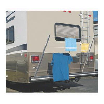 RV Clothesline - Stromberg Carlson Bumper-Mount Aluminum Clothes Dryer Rack