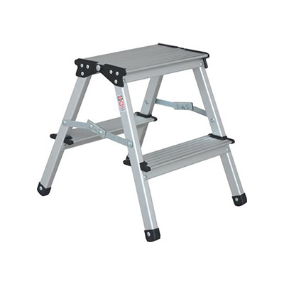 Step Stool - Stromberg Carlson Aluminum Step Stool With Folding Legs 330 Lbs Capacity