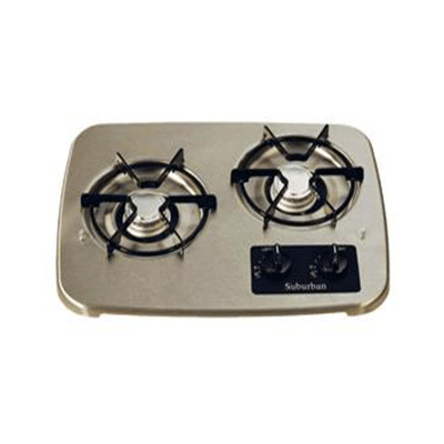 Gas Cooktop Parts - Suburban SDN2 And SDN3 OEM Cooktop Grate Black