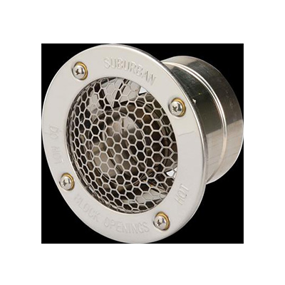 RV Tankless Water Heater Vent Cap - Nautilus - Up To 1 Inch Walls
