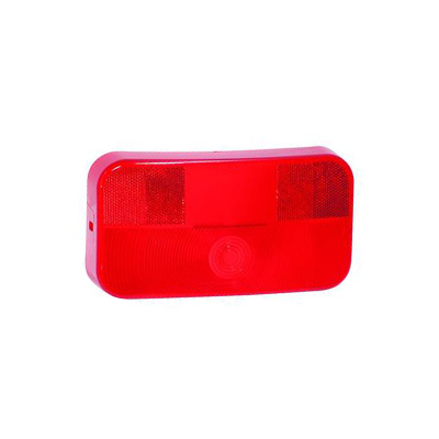 Tail Light Lens - Bargman 30-92-001 & 30-92-106 Lens With Radius Corners - Red