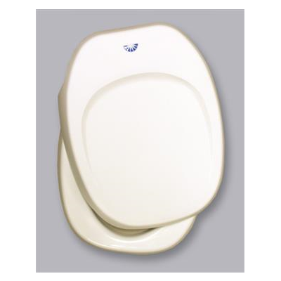 RV Toilet Seat - Aqua-Magic IV Replacement Toilet Seat With Cover Parchment