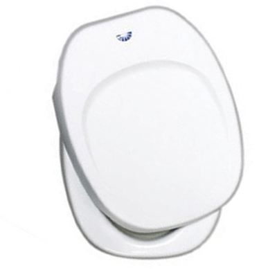 RV Toilet Seat - Aqua-Magic IV Replacement Toilet Seat With Cover White