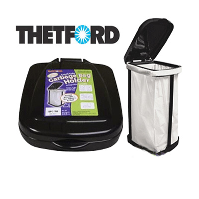 Trash Cans - Thetford StorMate 13 Gallon Collapsible Bag Holder - Black