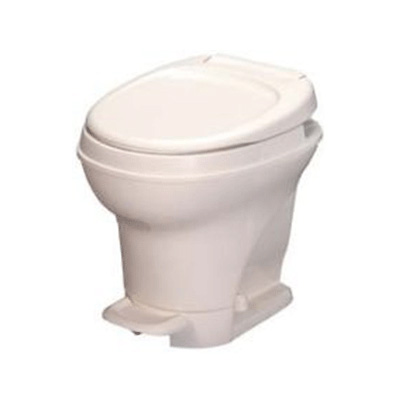 RV Toilet - Aqua-Magic V High Profile Foot Pedal Flush Toilet Parchment