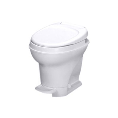RV Toilet - Thetford Aqua-Magic V High Profile Foot Pedal Flush Toilet - White