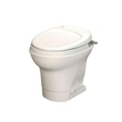 RV Toilet - Aqua-Magic V High Profile Hand Flush Toilet Parchment
