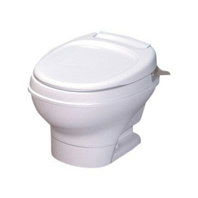 RV Toilet - Aqua-Magic V Low Profile Hand Flush Toilet White