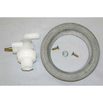 Toilet Valve - Aqua-Magic Starlite & Galaxy Toilet Valve With Floor Seal & Hardware