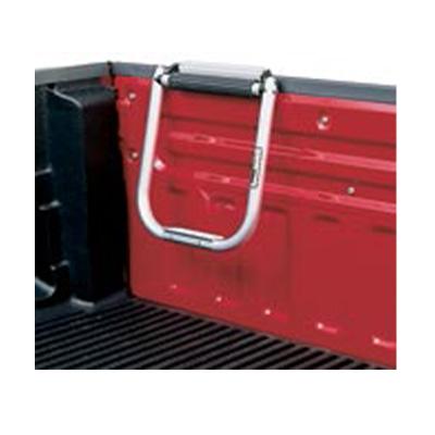 Truck Box Tailgate Step - Topline Manufacturing - Tubular - Black