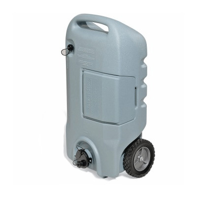 Portable Waste Tank - Tote-N-Stor Waste Tank With 2 Wheels And Tow Handle - 15 Gallons