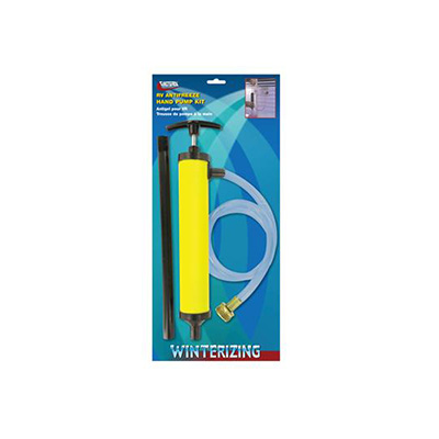 Winterizing Accessories - Valterra Antifreeze Hand Pump With Connecting Hose Yellow
