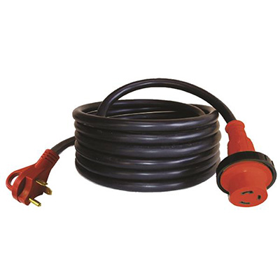 Power Cord - Mighty Cord 30A RV Extension Cord With Finger Grip Handle & Lock Ring 25'L