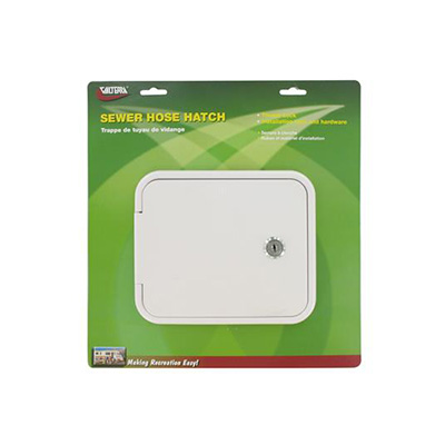 Hatch Door - Valterra Locking Sewer Hose Hatch Door White