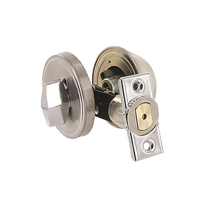 Door Lock - Valterra Deadbolt Lock With Exterior Key & Interior Knob Stainless Steel