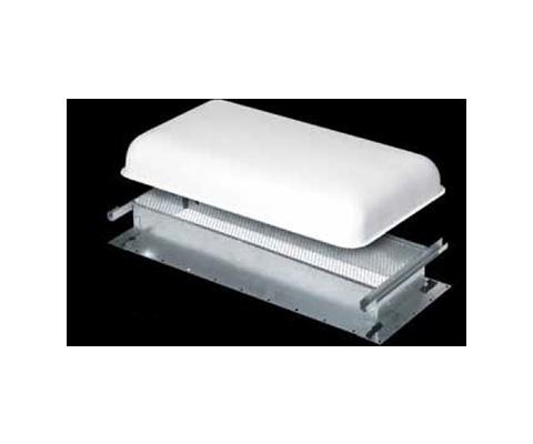 RV Refrigerator Roof Vent Base - Ventline Large Steel Refrigerator Roof Vent Base Silver