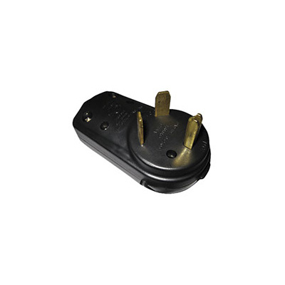 Power Cord Plug End - AP Products 30A Male Electrical Cord Plug End - Black