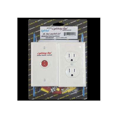 RV Water Heater Power Switch - Western Leisure Products - Includes Plug Socket