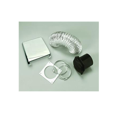 Dryer Vent - Splendide Dryer Vent Kit With Flexible Duct Pipe & Cover Chrome