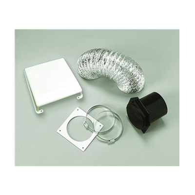 Dryer Vent - Splendide Dryer Vent Kit With Flexible Duct Pipe & Cover White