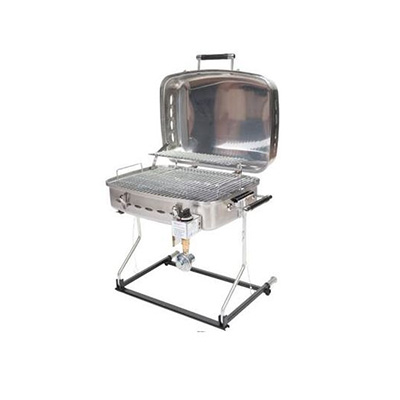 Barbecues - Faulkner Propane Grill With Stand Alone Bracket & RV Mount Stainless Steel