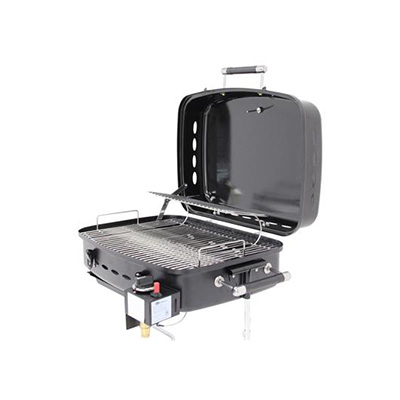 Barbecues - Flame King Propane Grill With Stand Alone/RV Mount - Black