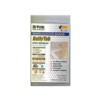 Epoxy Repair Kit - AP Products Fiberglass, Plastic And Porcelain Repair - White And Almond