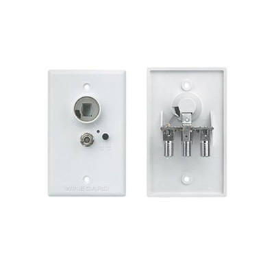 Power Supply Receptacle - Winegard Power Supply Receptacle Wall Plate - 12 Volts DC