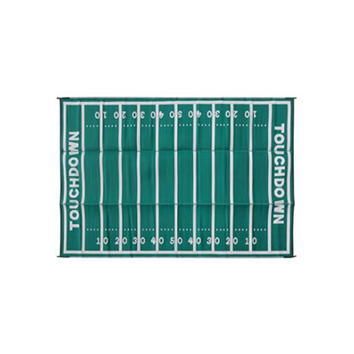 Camping Mats - Camco American Football Field Reversible RV Awning & Outdoor Mat 8' x 16'