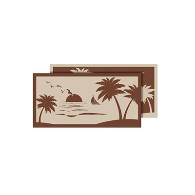 Camping Mats - Faulkner Beach & Palm Tree Patio Mat 9' x 18' Brown & Beige