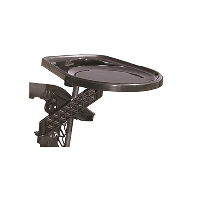 Camping Chair Tray - Faulkner Rotating Side-Mount Camping Chair Tray Black