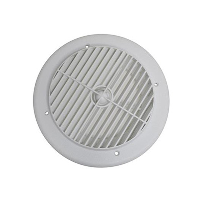 RV Duct Covers - Heat & AC - Rotating - Round - White