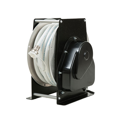 Water Hose Reel - Shoreline Reels Base Mount 12/24V Reel With 40'L Hose