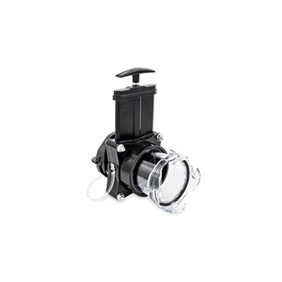 Gate Valves - Camco RV Waste Drain Valve With Built-In Clearview Adapter 3