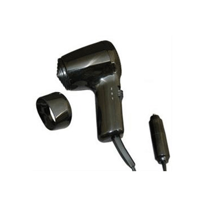 Hair Dryer - Prime Products 12V Hair Dryer With Folding Handle - Black