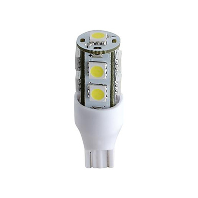LED Light Bulbs - Green Long Life T10/194 Wedge Base Bulb 12V Cool White - 2 Per Pack