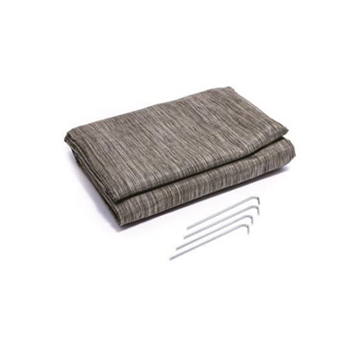 Camping Mats - Camco Awning & Leisure Mat With Canvas Carry Bag & Stakes 7' x 15' Grey