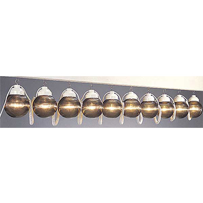 Globe String Lights - Polymer Products - 10 Shatterproof Globes - Bronze Colour